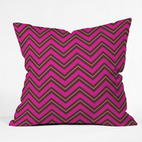 DENY Designs Home Accessories | Caroline Okun Chocolate Chevron Throw Pillow