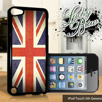 NEW iPod Touch 5 Case - United Kingdom UK Grunge Flag - 5 Gen Cover GEN5