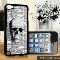 NEW iPod Touch 5 Case - Vintage Skull On Dictionary - 5 Gen Cover GEN5
