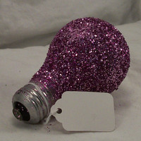 FREE  Bright IDEA  Pink Glitter Light Bulb Message by ArtZodiac