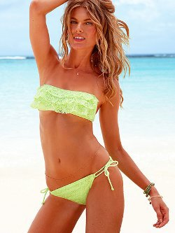 Lace Ruffle Bandeau Top - Beach Sexy - Victoria&#x27;s Secret
