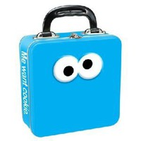 Amazon.com: Vandor Sesame Street Cookie Monster Square Tin Tote, 9.5 X 7.5 X 3 Inches, Multicolored (32570): Home & Garden