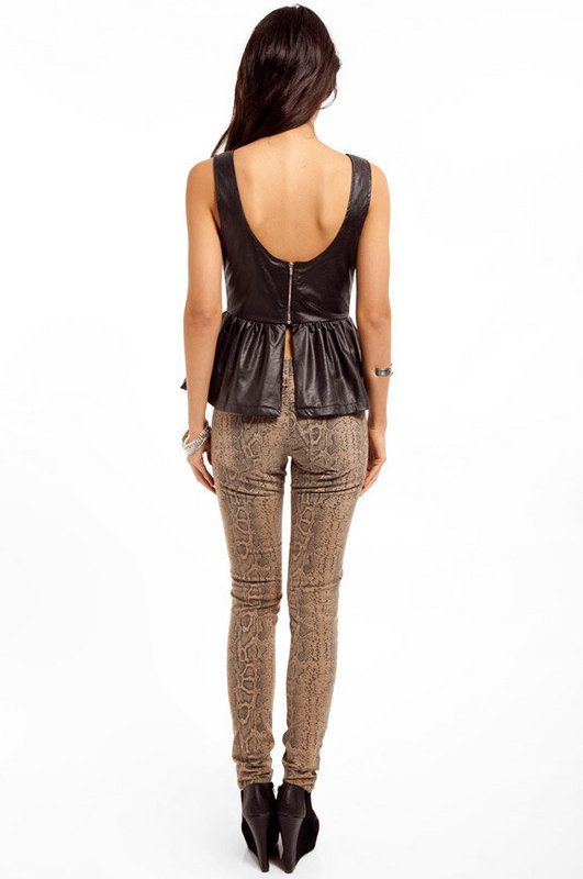 Zelda Leather Peplum Top $42