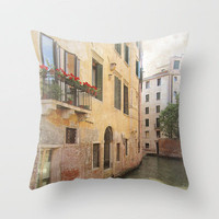 colors of Venice Throw Pillow by inourgardentoo | Society6