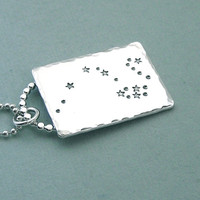 Draco Constellation Necklace Hand Stamped by MadamePoindextra