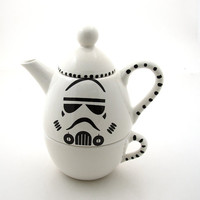 Star Wars (R) Inspired Storm Trooper Teapot Tea for one