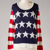 Born in the USA Knit Sweater