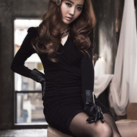 Office Lady Temperament Women Dresses Black : Wholesaleclothing4u.com