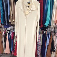 2pcs Floor Length Sweater Dress With Cardigan