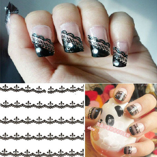 30x Lace Decal Manicure ...
