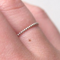Tiny Dots Ring by proteales on Etsy