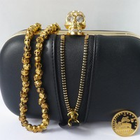 Black Box Skull Clutch Bag With Fro.. on Luulla