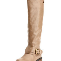 Charlotte Russe - Belted Low-Heel Riding Boot