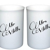 Mr & Mrs Bone China Mugs - FREE POS.. on Luulla