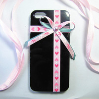 Iphone 5 case-bowknot iphone5 case.gift box style iphone 5 case.pink bowknot