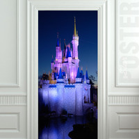 "Door Wall STICKER poster castle fairy tale disney land fantasy decole film 30x79""(77x200cm)"