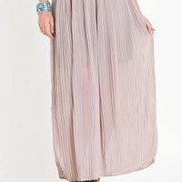 Madison Pleated Maxi Skirt - $48.00 : ThreadSence.com, Your Spot For Indie Clothing  Indie Urban Culture