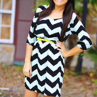 I Mint What I Said Dress: Chevron | Hope&#x27;s