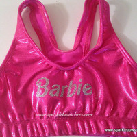 Bar Bar Metallic Sports Bra Cheerleading by SparkleBowsCheer