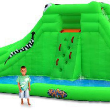 Blast Zone Crocodile Isle Inflatable water Park with Dual Slides by Blast Zone