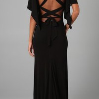 Haute Hippie Lace Up Back Gown