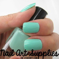 Mint Green - Blue Green Nail Polish in Mint Mini Teaser Size 5ml