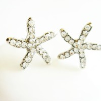 Starfish Star Crystal Paved Stud