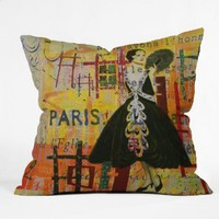 Amazon.com: DENY Designs Irena Orlov Paris Fashion 1 Throw Pillow, 26-Inch by 26-Inch: Home & Kitchen