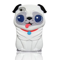 Amazon.com: New cute 3D White Pekingese dog Hard Case Cover for iphone 4 4s 4G Xmas Gift: Cell Phones &amp; Accessories