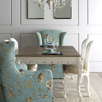 """Kendall"" Dining Table, ""Tana"" Skirted Chair, & ""LaDonna"" Dining Chair - Horchow"