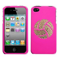 Amazon.com: Shocking Bright Pink and White Crystal Rhinestone Bling Bling Volleyball Sport for At&t Sprint Verizon Iphone 4 Iphone 4s 16gb 32gb Snap on Hard Plastic Durable Cover: Everything Else