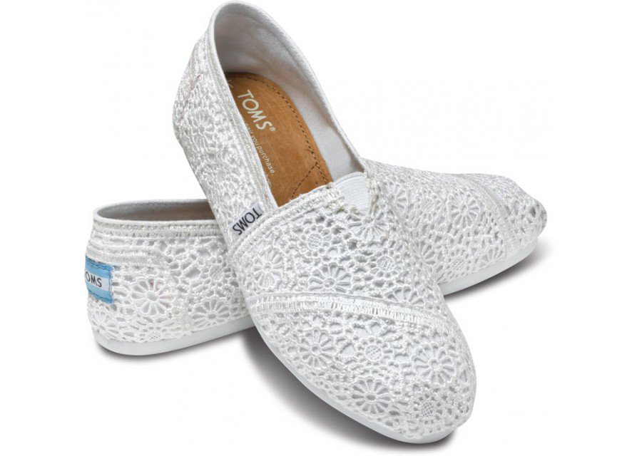 white crochet s classics toms from toms shoes