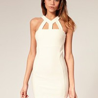 ASOS | ASOS Body-Conscious Dress with Cut Out Neck at ASOS