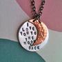 I  Love You To The Moon &amp; Back...Handstamped Necklace