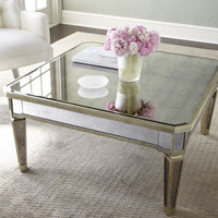 """Amelie"" Mirrored Coffee Table - Horchow"