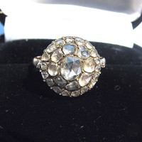 Georgian Rose-Cut Diamond/15k Cluster Ring, 1.6 CT TW, from aestheticengineering