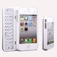 Cool Fashion Sliding Bluetooth Wireless Keyboard Hard Cover Case for Iphone4/4s/5