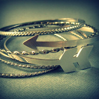 Arrow bracelet - tribal cuff - chevron jewelry - arrow bangle bracelet