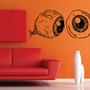 Creepy Eyeballs Sticker Wall Vinyl Decal Decals by DabbleDown