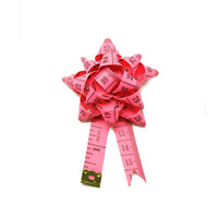 Tape Measure Brooch Flower Bow Pin Corsage Badge Handmade