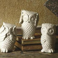 Hear No, See No, Speak No Evil Owls - Set of 3 - Table Accents -  Home Accents -  Home Decor | HomeDecorators.com