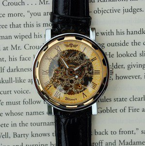 Golden Mechanical Wind-Up Wrist Watch | Wicked Clothes