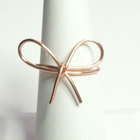 Bow Ring Copper Wire Wrapped Ring