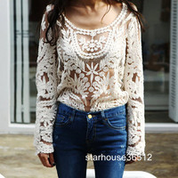 Semi Sexy Sheer Sleeve E...