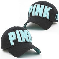 Ball Cap Baseball Fashion Hat PINK BLACK Casual Jean Trucker Fashion Unisex