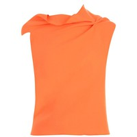 ROLAND MOURET Double Wool Crepe Top at Flannels Fashion