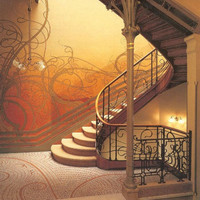 Fabulous Print of ART NOUVEAU Staircase by by ArtdeLimaginaire