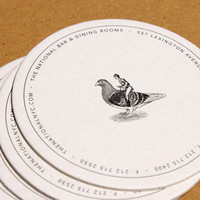 The National - Bar & Dining Rooms Identity by Papercut | Miss Design