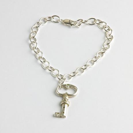 French Key Charm Bracelet