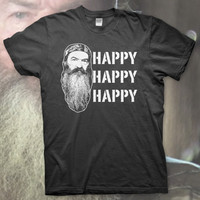 HAPPY HAPPY HAPPY High Quality T Shirt DUCK DYNASTY Show Commander Call Hunting